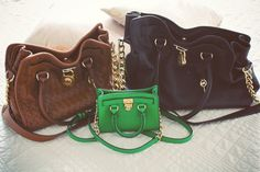 Michael Kors Hamilton bag in 3 different sizes
