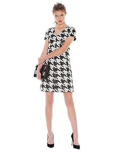 Houndstooth V-Neck Dress   Lord and Taylor