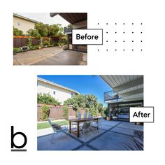 Look at the before and after pictures of the new landscaping at this Eichler home in Palo Alto. Located at 2207 Greer Road, Palo Alto 94303.   Professionally designed landscaping features concrete patterned with river rocks, spacious patio for entertaining, and lush lawn. Eric & Janelle Boyenga 408.373.1660 homes@boyenga.com DRE 01254725 | 01254724