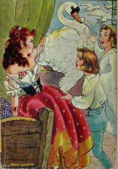 The Six Swans -- Mary Brooks -- Fairytale Illustration