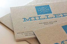 Miller Creative Business Cards