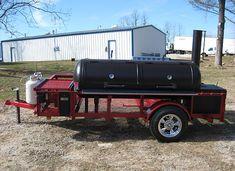 The best custom BBQ trailers and smokers built in Texas Custom Bbq Smokers, Custom Bbq Pits, Bbq Smoker Trailer, Bbq Pit Smoker, Backyard Smokers, Outdoor Bbq Kitchen, Hawaiian Bbq, Texas Bbq, Smoke Grill