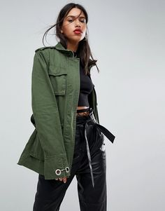 Buy ASOS DESIGN double wrap belted khaki jacket at ASOS. With free delivery and return options (Ts&Cs apply), online shopping has never been so easy. Get the latest trends with ASOS now. Khaki Jacket, Jacket Style, Tommy Jeans T Shirt, Jackets For Women, Clothes For Women, Lightweight Jacket, Bellisima, Mantel, Collection
