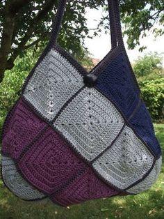 Crochet et tricot facile avec explications: Sac crochet 22 carrés