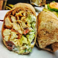 wrap lemon garlic marinated chicken breast, caramelized onions ...