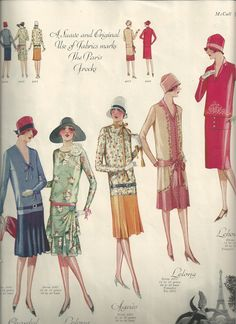 """Page 10. """"A Suave and Original Use of Fabrics marks The Paris Frocks"""""""