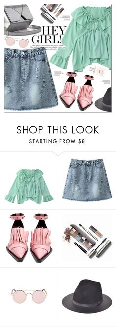 """""""Ruffle Blouse"""" by oshint ❤ liked on Polyvore featuring Marques'Almeida, Laura Mercier, philosophy, awesome, pretty, fabulous, blouse and zaful"""
