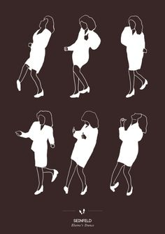 Seinfeld / Elaine's Dance:  Niege Borges graphic designer transcribed in posters these choreographies