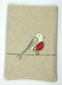 iPad Mini or Kindle Case Red Bird Applique £18.00
