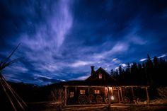 Bathouse at night - Dunton Hot Springs, #Colorado #luxurytravel