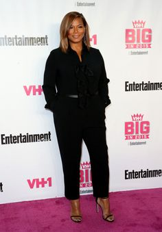 Queen Latifah at the 2015 Entertainment Weekly Awards Arrivals Curvy Fashion, Daily Fashion, Fashion News, Plus Size Fashion, Womens Fashion, Queen Latifah, Beauty Crush, Queen Outfit, Mode Plus