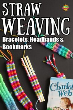 Straw Weaving is easy and fun activity for tweens and teens. They can make headbands, bracelets, necklaces and bookmarks using just 3 drinking straws and some scrap yarn. easy crafts Straw Weaving (Weaving on Drinking Straws) Yarn Crafts For Kids, Crafts For Teens To Make, Crafts To Do, Fun Things To Make For Teens, Things To Make With Yarn, Tween Craft, Easy Yarn Crafts, Easy Crafts For Teens, Camping Bingo