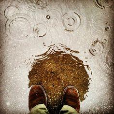 Rain. Umbrella.