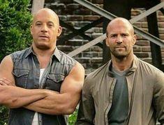 Vin Diesel & Jason Statham ( in my dreams 😍) Vin Diesel, Jason Statham, Paul Walker, Michelle Rodriguez, Chris Hemsworth, Dominic Toretto, Furious Movie, Dwayne The Rock, Bald Men