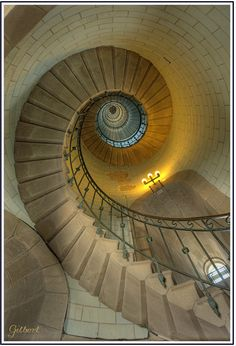 Spherical staircase Phare d'Eckmühl - Penmarc'h - Finistère Brittany, France