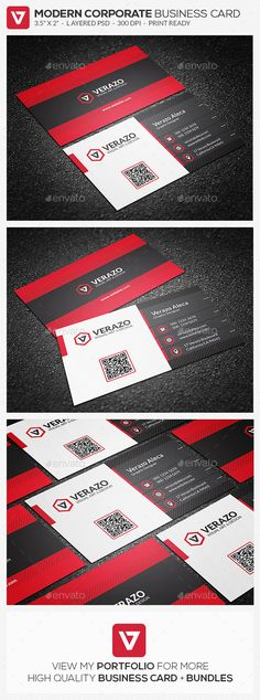 Bold Red Corporate Business Card Template