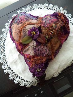 Crazy Quilt heart as seen in video