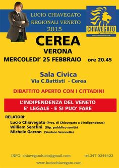 L'INDIPENDENZA DI SAN MARCO: INCONTRO CON LUCIO CHIAVEGATO IL 25-2-2015!
