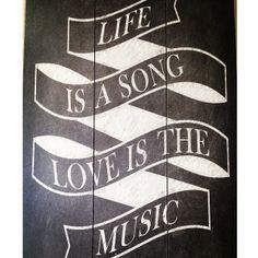 Our new #chalkboard sign at Northeast Wedding Chapel. Life is a song... Love is the music! #waltersweddingestates #dallasweddingvenue #fortworthweddingvenue #love #weddings