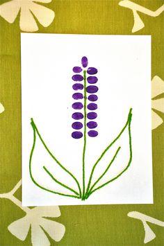 Kids crafts - Thumbprint Hyacinth