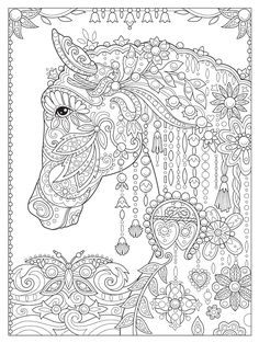 Creative Haven Dream Horses Coloring Book (Creative Haven Coloring Books) Cute Coloring Pages, Animal Coloring Pages, Coloring Pages To Print, Printable Coloring Pages, Coloring Sheets, Creative Haven Coloring Books, Free Adult Coloring, Adult Crafts, Fabric Painting