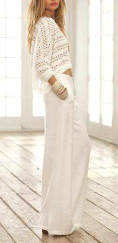 f513f8869b19 All white bohemian swag White Fashion