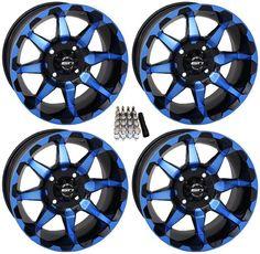 """STI HD6 UTV Wheels/Rims Blue/Black 14"""" Polaris RZR 1000 XP / Ranger XP 900/1000"""