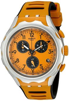 Swatch Men's YYS4010 Analog Display Quartz Orange Watch