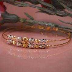 Plain Gold Bracelet gms) - Fancy Jewellery for Women by Jewelegance Pearl Necklace Designs, Jewelry Design Earrings, Gold Earrings Designs, Gold Bracelet For Women, Gold Bangles Design, Gold Jewelry Simple, Diamond Jewellery, Fancy Jewellery, Gemstone