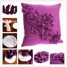 DIY : make beautiful rosette pillow