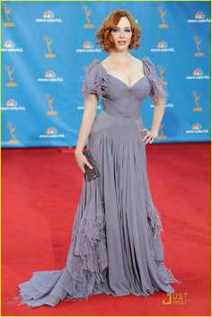 Christina Hendricks no Emmy de 2010.