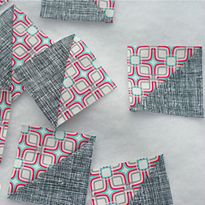 Sewing Tutorial: Half Square Triangles (HSTs): How to sew eight at a time, from sewmamasew.com. #quilt #45-45-90_triangles