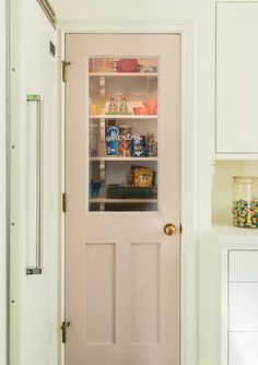 Fun and Colorful Kitchen of the Week - Town & Country Living Whimsical Kitchen, Vintage Kitchen, Kitchen Vignettes, Interior Design Books, Glass Front Cabinets, Door Paint Colors, Town And Country, Country Living, Cottage Kitchens