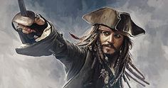 Pirate Art - Pirates of the Caribbean Johnny Depp Artwork 2  by Sheraz A
