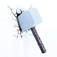 image of 3D Light FX 3D Thor Hammer Deco/Night Light If I buy this will Thor come and get it - just hoping!