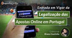 O que vai mudar no imediato com a Legalização das Apostas Online em Portugal?  Crónica de Bruno Coutinho Apostaganha, sobre o assunto do momento!  E tu, achas que isto vai melhor ou prejudicar o mundo das #ApostasDesportivas?   #apostasonline #apostas #regulamentação #futebol #desporto
