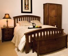 The Kilmichael Wooden Electric Adjustable Bed is a beautiful Classic Walnut Curved Slatted Design.