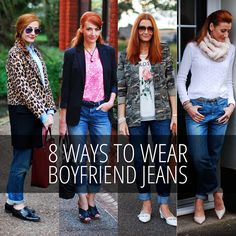Not Dressed As Lamb - Over 40 Fashion Blog: 8 Ways to Wear Boyfriend Jeans