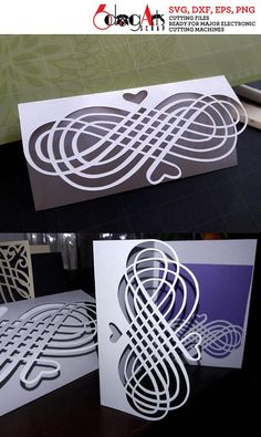 5 Calligraphic Lace Envelopes and Cards - vector digital files to use for your crafting projects - greeting cards, wedding invitations, RSVP cards, etc. WHAT YOU WILL RECEIVE This listing is for 5 envelope / card templates - bi-fold, tri-fold. You will receive this set in 4 file formats: