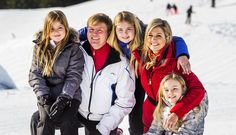 Members of the Dutch Royal Family posed for the press during their annual holiday in Lech, Austria