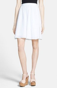 b9bc08697f Free shipping and returns on Painted Threads Eyelet Skirt (Juniors) at  Nordstrom.com