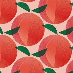 by Elsa Boch Fruit Illustration, Digital Illustration, Graphic Illustration, Textile Patterns, Print Patterns, Textiles, Fruits Drawing, Fruit Pattern, Surface Pattern Design