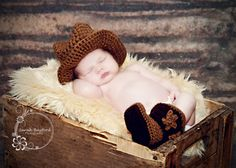 Cowboy Hat and Boots Photo Prop by lkknitsandknots on Etsy, $34.00