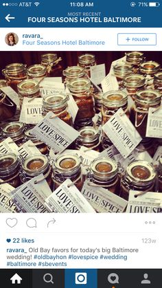 Favors Baltimore Wedding, Four Seasons Hotel, Favors, Spices, Reception, Spice, Guest Gifts, Gifts