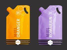 Identité packaging Miel by Aurore Ricous, via Behance
