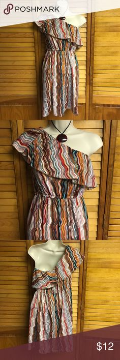 She's Cool dress She's cool one sleeve dress in bright colors for summer.  (C/5/27) Shes Cool Dresses One Shoulder