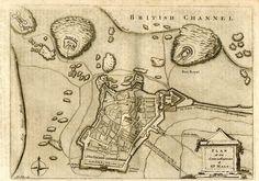 Carte anglaise de Saint-Malo au XVIIIe siècle