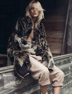 Anja Rubik Stars in the Vogue Paris' October Issue #media #popculture trendhunter.com