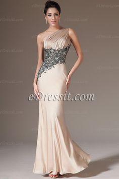 【eDressit Nouveaté 2014 robe de soirée mise en vente 】Robe de soirée longue asymétrique