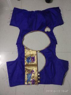 Brocade Blouse Designs, Simple Blouse Designs, Blouse Back Neck Designs, Neckline Designs, Stylish Blouse Design, Designer Blouse Patterns, Saree Blouse Designs, Jaipur, Ideas